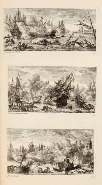 PERELLE Recueil de cent cinquante paysages et marines ornés de figures et ruines....