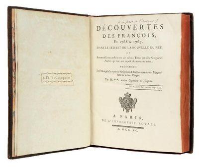 FLEURIEU (Charles-Pierre Claret de) Découvertes des Français, en 1768 et 1769, dans...
