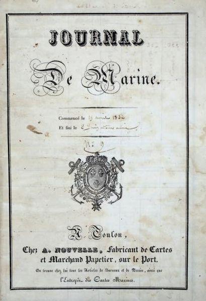 Journal de Marine. [Toulon], [A. Nouvelle],...