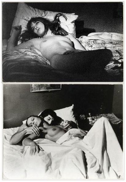 ROMY SCHNEIDER et JANE BIRKIN PHOTOS 2 Photos...