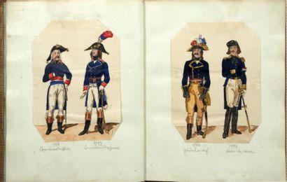 Uniformes militaires. (Révolution - 1er Empire)....