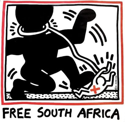 Free South Africa vers 1980 - HARING KEITH...