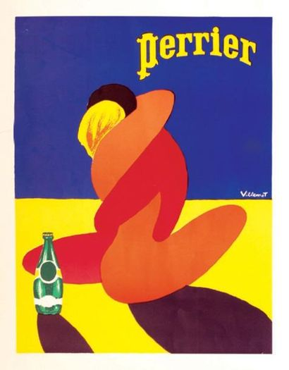 Perrier - VILLEMOT BERNARD Aff. Entoillée...