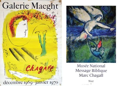 Lot de 2 Affiches Chagall - CHAGALL MARC...
