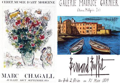 Lot de 2 Affiches: Chagall - Buffet - CHAGALL...