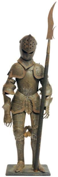 Armure miniature de cavalier du XVIème siècle...