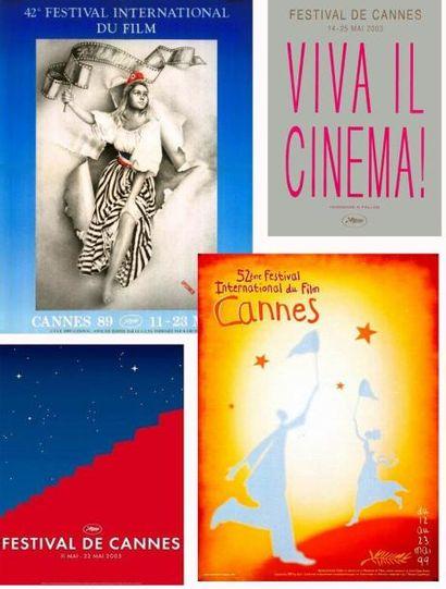 FESTIVAL DE CANNES 5 affiches: 1989, 1999,...