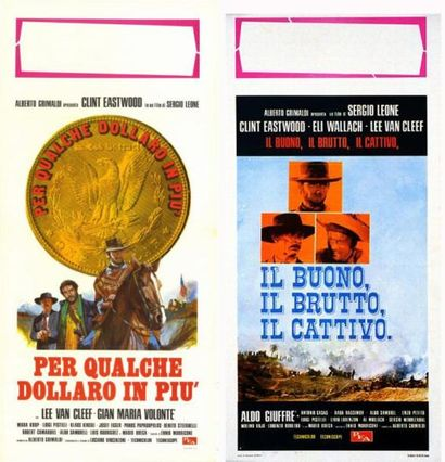 TRIOLGIE SERGIO LEONE 3 Affiches italiennes...