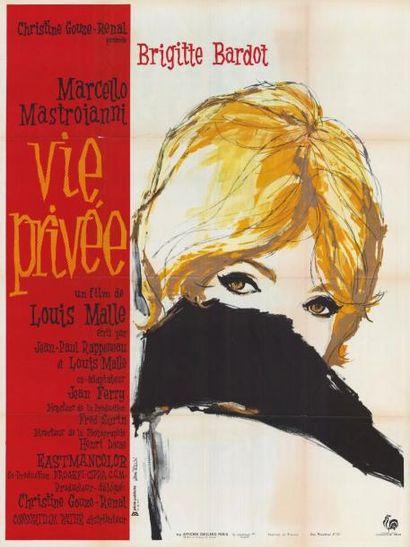 VIE PRIVEE MALLE Louis - 1961 Affiche pliée...