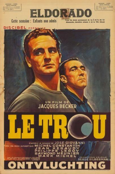 TROU (le) BECKER Jacques - 1960 Affiche belge...