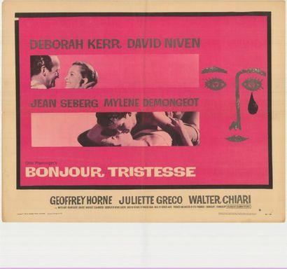 BONJOUR TRISTESSE PREMINGER Otto - 1958 Affiche...