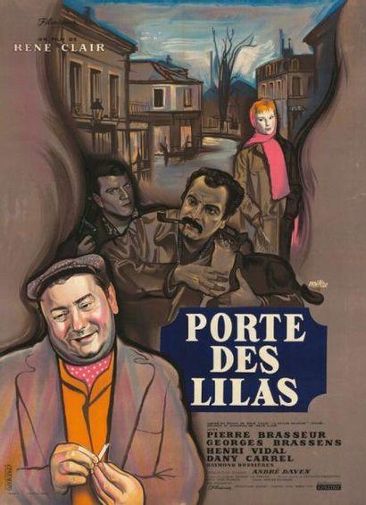 PORTE DES LILAS CLAIR René - 1957 Affiche...
