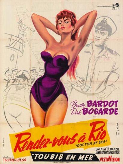 RENDEZ-VOUS A RIO THOMAS Ralph - 1955 Affiche...