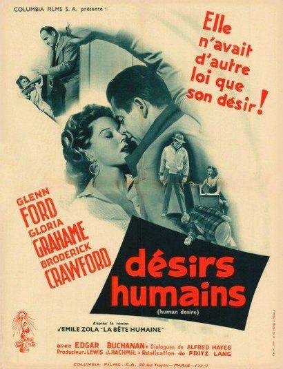 DESIRS HUMAINS LANG Fritz - 1954 Affiche...