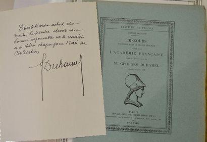 DUHAMEL Georges [Paris, 1884 - Valmondois, 1966]