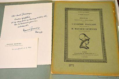 GENEVOIX Maurice [Decize, 1890 - Alsudia-Cansades, 1980]