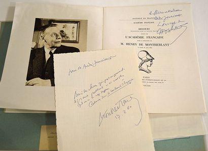 MONTHERLANT Henry Millon de [Paris, 1895 - id., 1972]