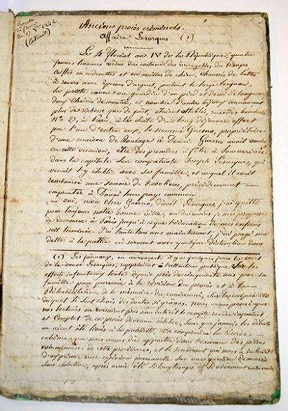 AFFAIRE DU COURRIER DE LYON. Manuscrit «Affaire...
