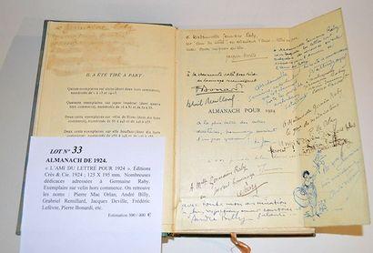 ALMANACH DE 1924. «L'AMI DU LETT RÉ POUR...
