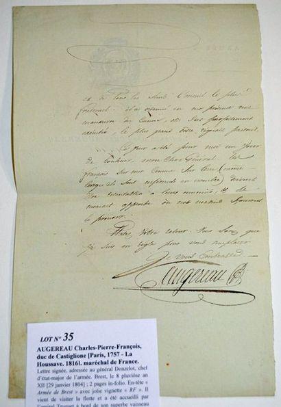 AUGEREAU Charles-Pierre-François, duc de Castiglione [Paris, 1757 - La Houssaye, 1816]