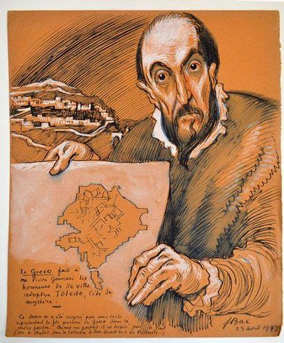 BAC Ferdinand (de Sigismond Bach, dit) [Stuttgart, 1859 - Compiègne, 1952] Dessinateur,...