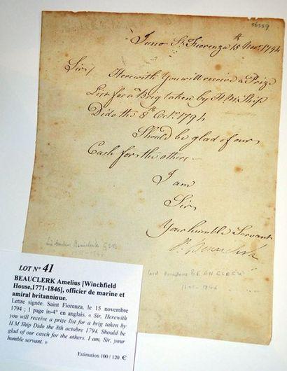 BEAUCLERK Amelius [Winchfield House,1771-1846]