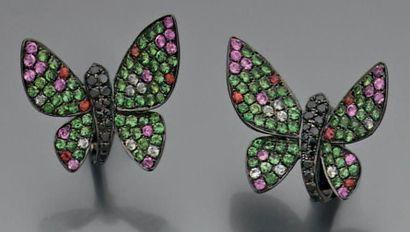 Paire de boucles d'oreille «papillon» en...