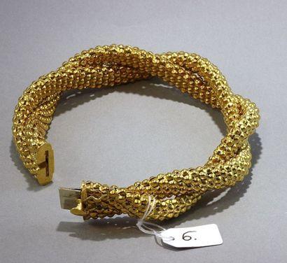 Bracelet souple, articulé et torsadé À motif...