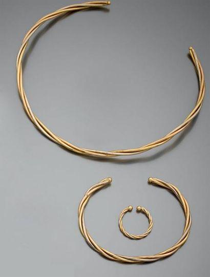 Parure CARTIER Bague, bracelet et collier,...