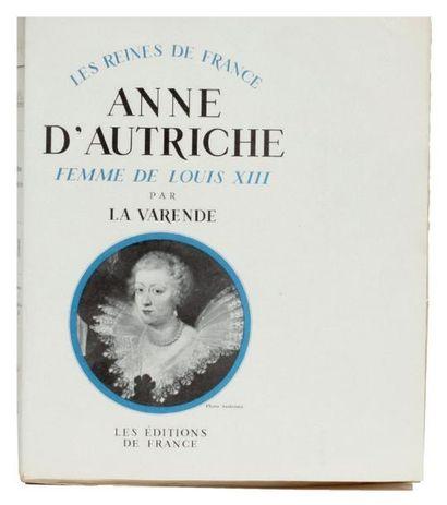 ANNE D'AUTRICHE: Les Editions de France Paris...