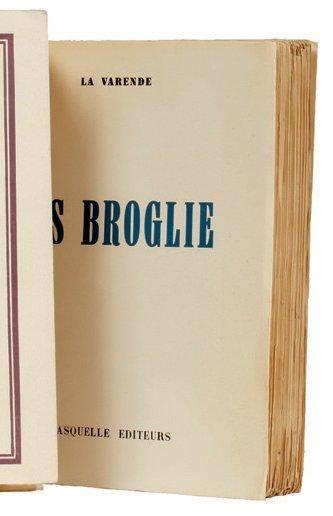 LES BROGLIE: Fasquelle Editeurs Paris 1950....