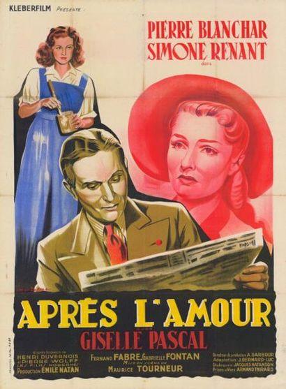 APRES L'AMOUR Maurice TOURNEUR - 1947 Entoilage...