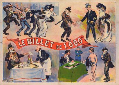 BILLET DE 1000 FRANCS (le) Entoilage ancien...