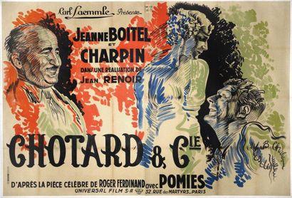 CHOTARD ET CIE Jean RENOIR - 1932 Affiche...