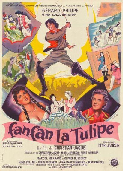 FANFAN LA TULIPE CHRISTIAN-JAQUE - 1952 Affiche...