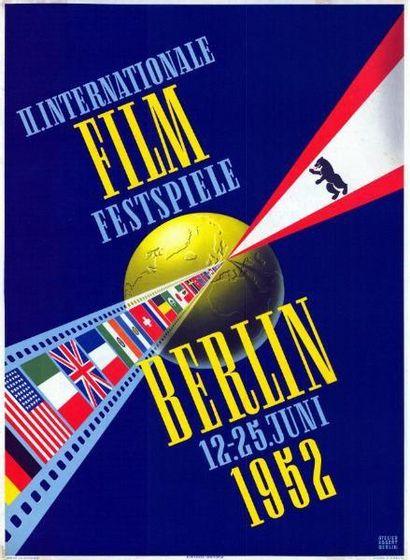 FESTIVAL DE BERLIN 1952 Entoilée, très bon...