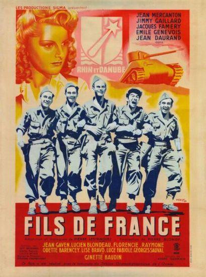 FILS DE FRANCE Pierre BLONDY - 1945 Affiche...