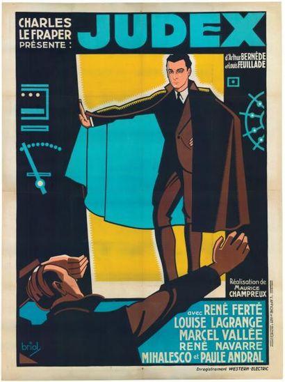 JUDEX Maurice CHAMPREUX - 1936 Affiche entoilée...