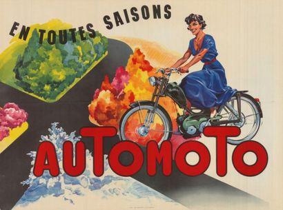 AUTOMOTO EN TOUTES SAISONS Affiche pliée...