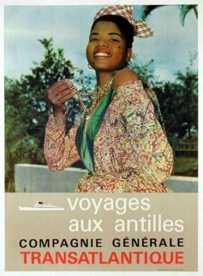 C G T Voyage aux Antilles Affiche entoilée...