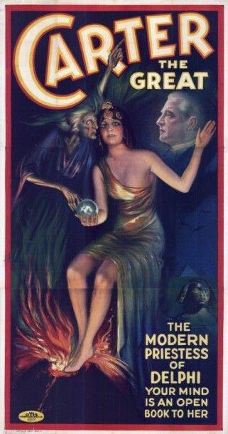 CARTER THE GREAT, MAGICIEN Affiche entoilée...
