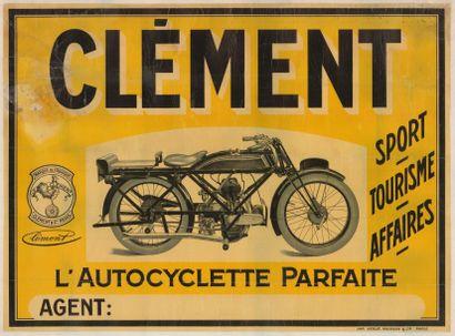CLEMENT AUTOCYCLETTE PARFAITE Affiche entoilée...