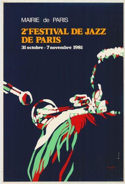 FESTIVAL DE JAZZ DE PARIS Affiche roulée...