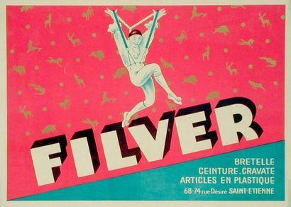 FILVER Bretelle-Ceinture-Cravate Affiche...