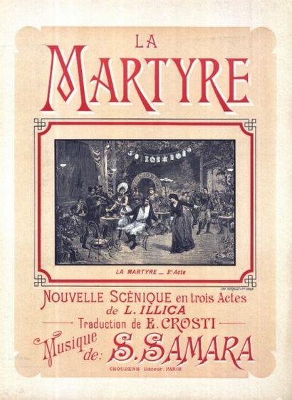 LA MARTYRE Musique par S SAMARA Affiche roulée...