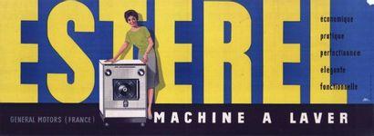Machine a laver ESTEREL Affiche roulée en...