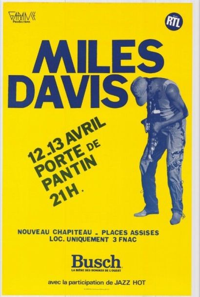 MILES DAVIS Porte de Pantin Affiche roulée...