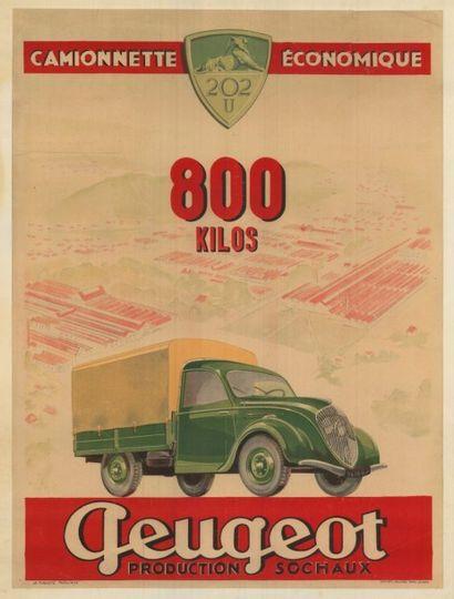 PEUGEOT Camionette économique 202U 800 kilos...