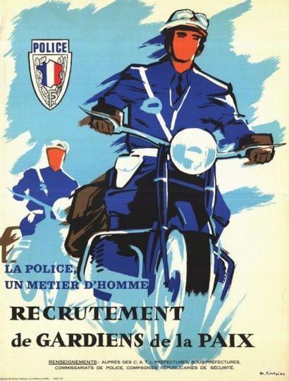 POLICE NATIONALE, UN METIER D' HOMMES MOTARD...