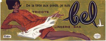 Tricots BEL Lingerie, bas Affiche roulée...